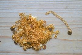 RVS Gold plated verlengkettinkje ca. 5 cm per stuk