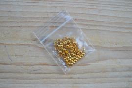 Goudkleurige knijpkralen ca. 4 mm ca. 50 stuks