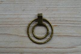 Bronzen hanger 2 cirkels ca. 46 x 52 mm