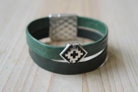DIY Pakket Armband met magneet en schuiver Groen