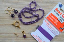 DIY pakket kort collier met bijpassende oorbellen en hanger