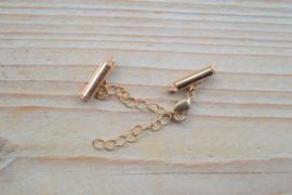 Goudkleurige klemmetjes 16 mm met karabijnsluiting