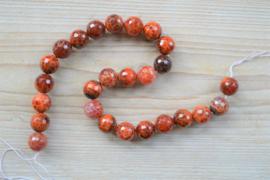Rotes Feuerachat facettierte runde Perlen 16 mm