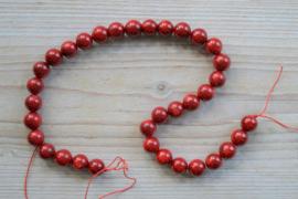 Bambuskoralle runde Perlen ca. 12 mm