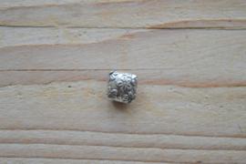 Kraal sterling zilver ca. 12 x 5 x 12 mm