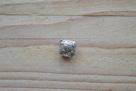 Kraal sterling zilver ca. 12 x 5 x 12 mm per stuk
