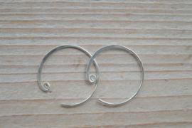 Oorbel sterling zilver `Open Creool` ca. 22 mm (per 2)