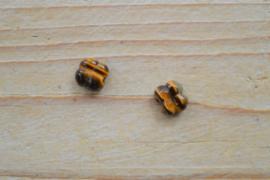 Tijgeroog klavertjes ca. 10 mm per 2