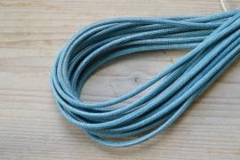 Rond nappaleer Slangeprint 4 mm Blauw per  10 cm