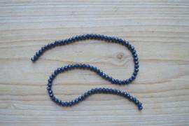 Kristalstreng donkerblauw gefacetteerde rondellen ca. 3 x 4 mm