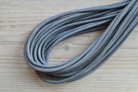 Rundes nappaleder snakestyle 4 mm Grau pro 10 cm
