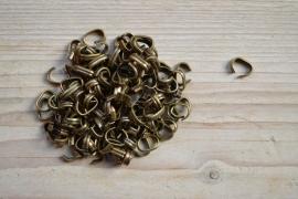 Bronzen leerklemmen ca. 8 x 11 mm per 3 stuks