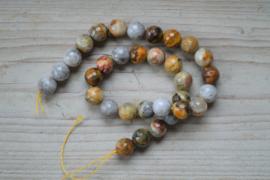 Crazy Lace Achat facettierte runde Perlen 12 mm