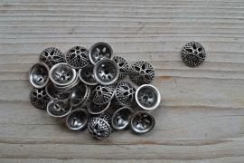 Metalen kraalkap ca. 15 mm per 10 stuks