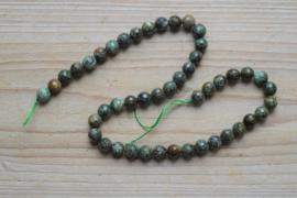 Afrikaans turquoise gefacetteerde ronde kralen 8 mm
