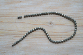 Pyriet gefacetteerde ronde kralen 6 mm