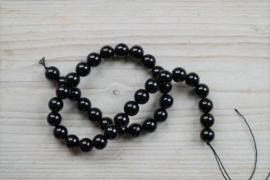 Zwarte toermalijn ronde kralen 10 mm
