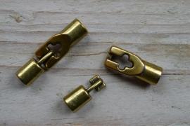 Bronzen haakslot ca. 9 x 32 mm per stuk