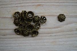 Bronskleurige kraalkap ca. 14 mm per 10 stuks