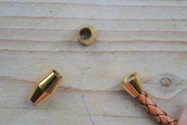 RVS Gold plated magneetsluiting 5 mm ca. 10 x 16 mm per stuk