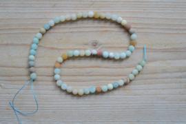 Meerkleurig amazoniet MAT ronde kralen 6 mm