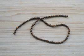 Bronzit runde Perlen 4 mm