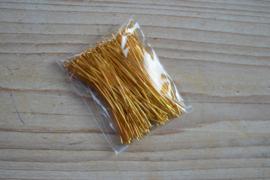 Goudkleurige nietstiften 45 mm ca. 100 stuks