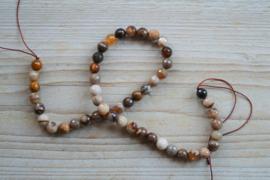 Versteinertes Holz Achat runde Perlen 8 mm