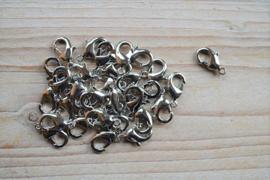 Metalen karabijnsluiting ca. 11 x 18 mm per 4 stuks
