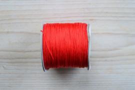 Nylonkoord dikte ca. 0,8 mm Rood per 2 meter