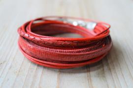 DIY Pakket Armband XL I Rood