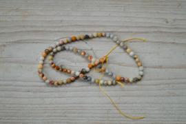 Crazy Lace Achat facettierte runde Perlen 4 mm