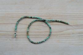 Afrikaans turquoise ronde kralen 4 mm