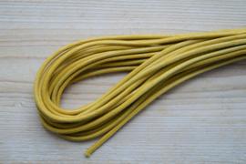 Rundes nappaleder reptielenstyle 4 mm Gelb pro 10 cm