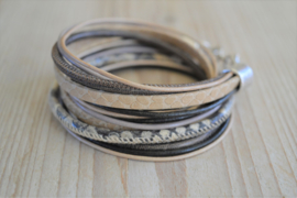 Leather Wrap XL Brown/Beige