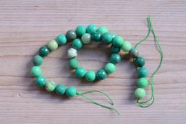 Grün Gras Achat facettierte runde Perlen 12 mm