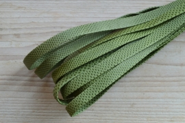 Plat nappaleer Reptielenprint 10 mm Grasgroen per 10 cm