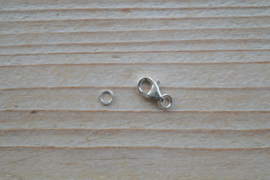 Karabijnsluiting sterling zilver klein ca. 5 x 8 mm