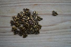 Bronzen voetjes ca. 8 x 11 mm per 10 stuks