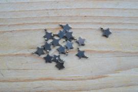 RVS bedel ster ca. 8 x 10 mm per stuk