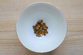 Tijgeroog coin cabochon ca. 6 mm