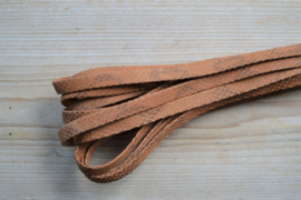 Plat nappaleer Slangeprint 10 mm Reebruin per 10 cm