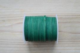 Rindleder 1,5 mm Vintage Grün pro meter
