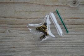 Bronsfarbige Kordelklemmen ca. 3 x 8 mm per 10 stück