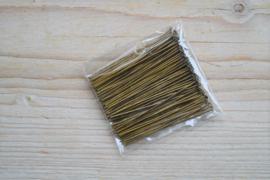 Bronskleurige nietstiften 45 mm ca. 50 stuks