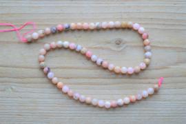 Peruviaans roze opaal ronde kralen 6 mm