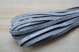 Plat nappaleer Reptielenprint 10 mm Grijs per 10 cm
