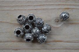 Kraal sterling zilver ca. 10 x 10 mm