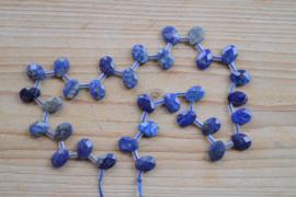 Lapis Lazuli facettierte flache Briolettes ca. 8 x 12 mm