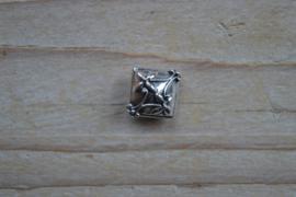 Kraal sterling zilver ca. 15 x 8 x 15 mm